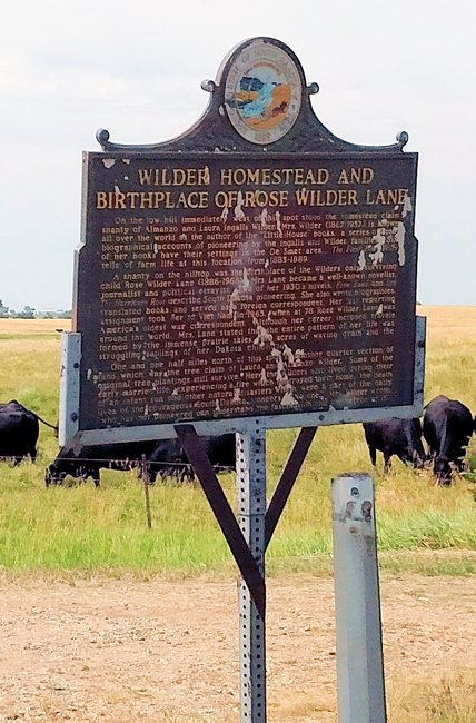 Rose Wilder Lane birthplace roadside marker